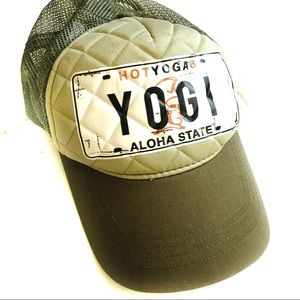 495d12d1 Accessories | Yoga Quilted Trucker Hat | Poshmark